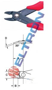 """Alicates de Corte - Heavy Duty 143mm 5.5/8"""" 2178MBR"""