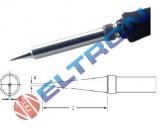 ETKBR Ponta de Fenda Longa 1,2mm x 0,4mm x 25,4mm para Ferro de Solda TC201TBR/LR21