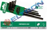 220424BR JOGO CHAVES ALLEN LONGA COM SUPORTE  3 – 4 – 5 – 6 - 8 - 9 - 10MM