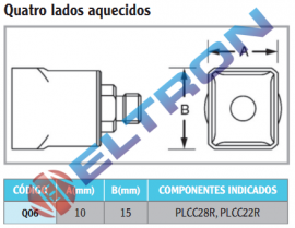 Q06 Ponta de Solda Quatro Lados Aquecidos para HAP1/HAP200