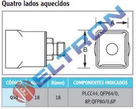 Q10 Ponta de Solda Quatro Lados Aquecidos para HAP1/HAP200