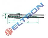 Lima forma cônica arredondada forma L 60mm 20613N Nicholson