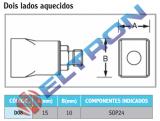 D08 Ponta de Solda Dois Lados Aquecidos para HAP1/HAP200