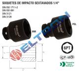 84114BX SOQUETES DE IMPACTO SEXTAVADOS 1/4 5,5MM
