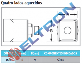 Q04 Ponta de Solda Quatro Lados Aquecidos para HAP1/HAP200
